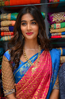 Puja Hegde looks stunning in Red saree at launch of Anutex shopping mall ~ Celebrities Galleries 064.JPG