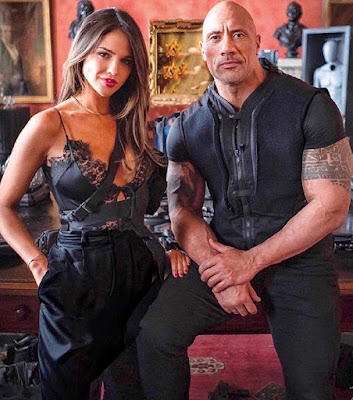 Hobbs And Shaw Dwayne Johnson Eiza Gonzalez Image 1