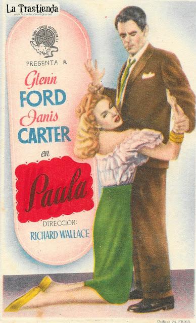 Paula - Programa de Cine - Glenn Ford - Janis Carter