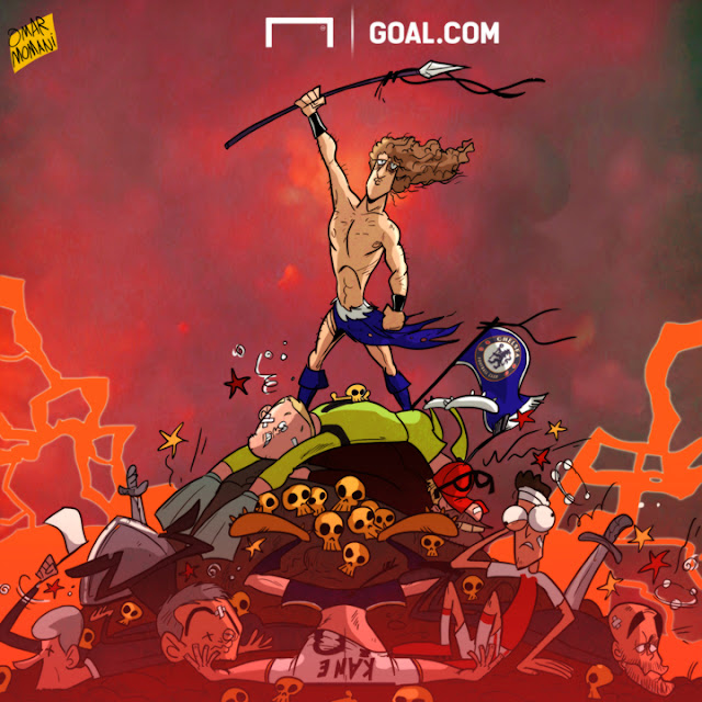 David Luiz the Conqueror  cartoon