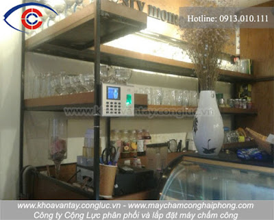 Hoàn thành lắp đặt máy chấm công Ronad Jack DG-600 tại quán cafe Today, Trần Phú, Hải Phòng.