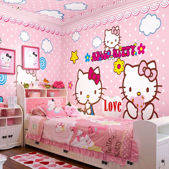 Wall Murals for Kids Rooms Wallpaper Pink Hello Kitty Baby wallpaper