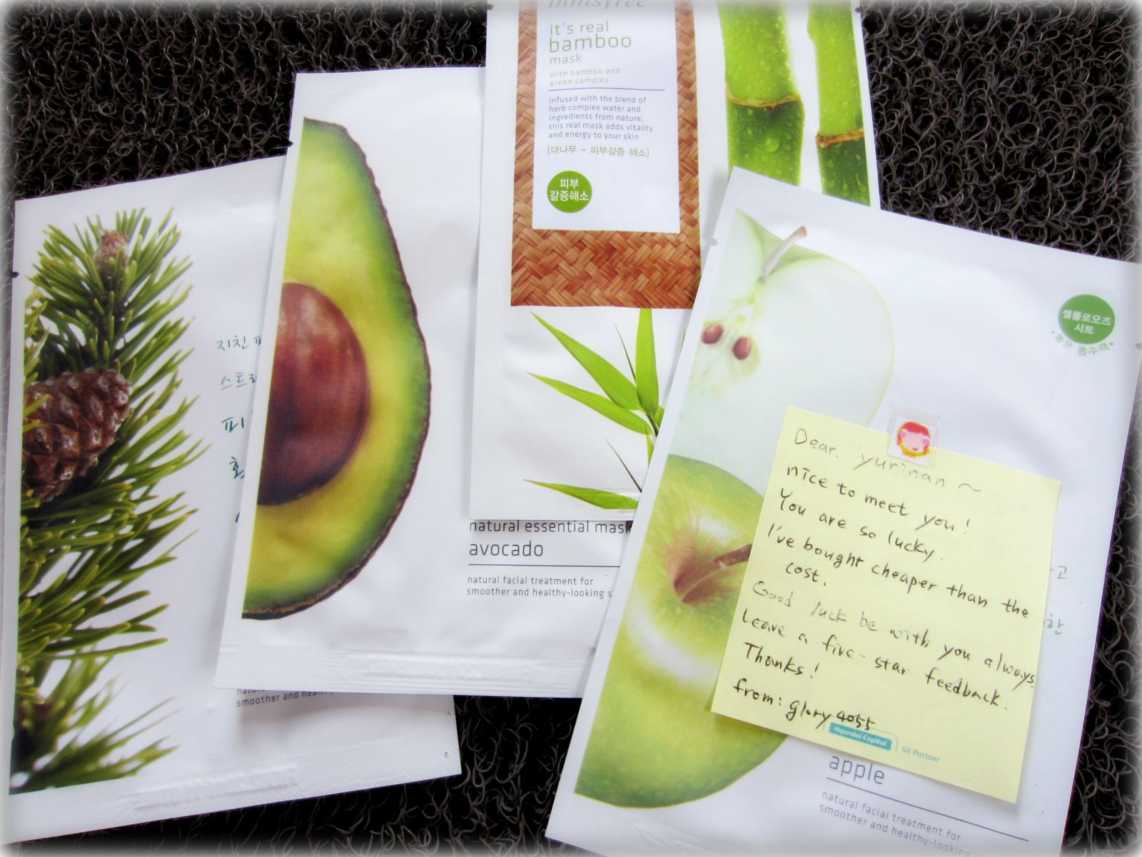 Hauls Freebies February And March 2012 Two Thousand Things Ovale Facial Mask Sachet Tomat One Afternoon I Saw Several Open Bids For Many Varieties Of Innisfree Masks On Ebay Decided To Bid Five Them Thinking That Could At