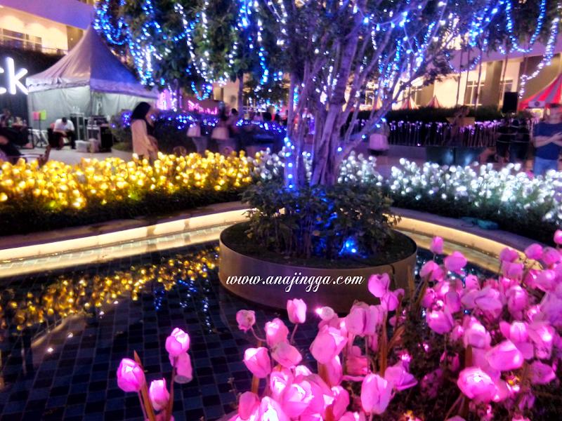 Kerlipan Lampu Di  Illumination Flowers Show Eco Sky