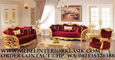 Furniture klasik jakarta,Mebel sofa tamu jati ukiran jepara desain eropa Classic Mewah.code AA106