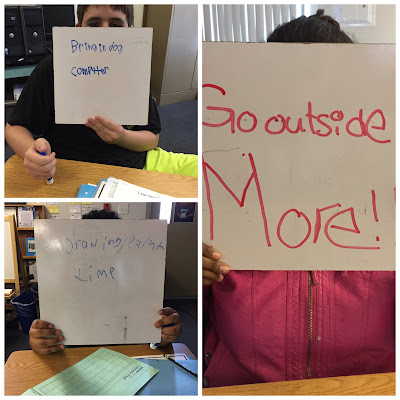 I asked the students how we could make our last days of school count!  This is what they came up with...