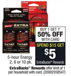 5 hour energy drink printable coupons