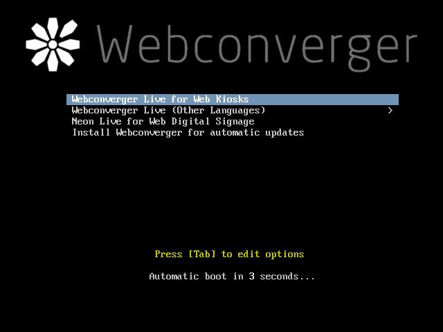 Conheça o Webconverger um sistema GNU/Linux para quiosque, Cibercafé! Faça o download!