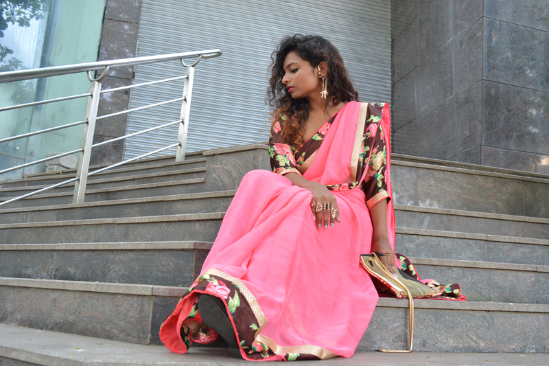 saree fashion triveni indian fashion bloggers
