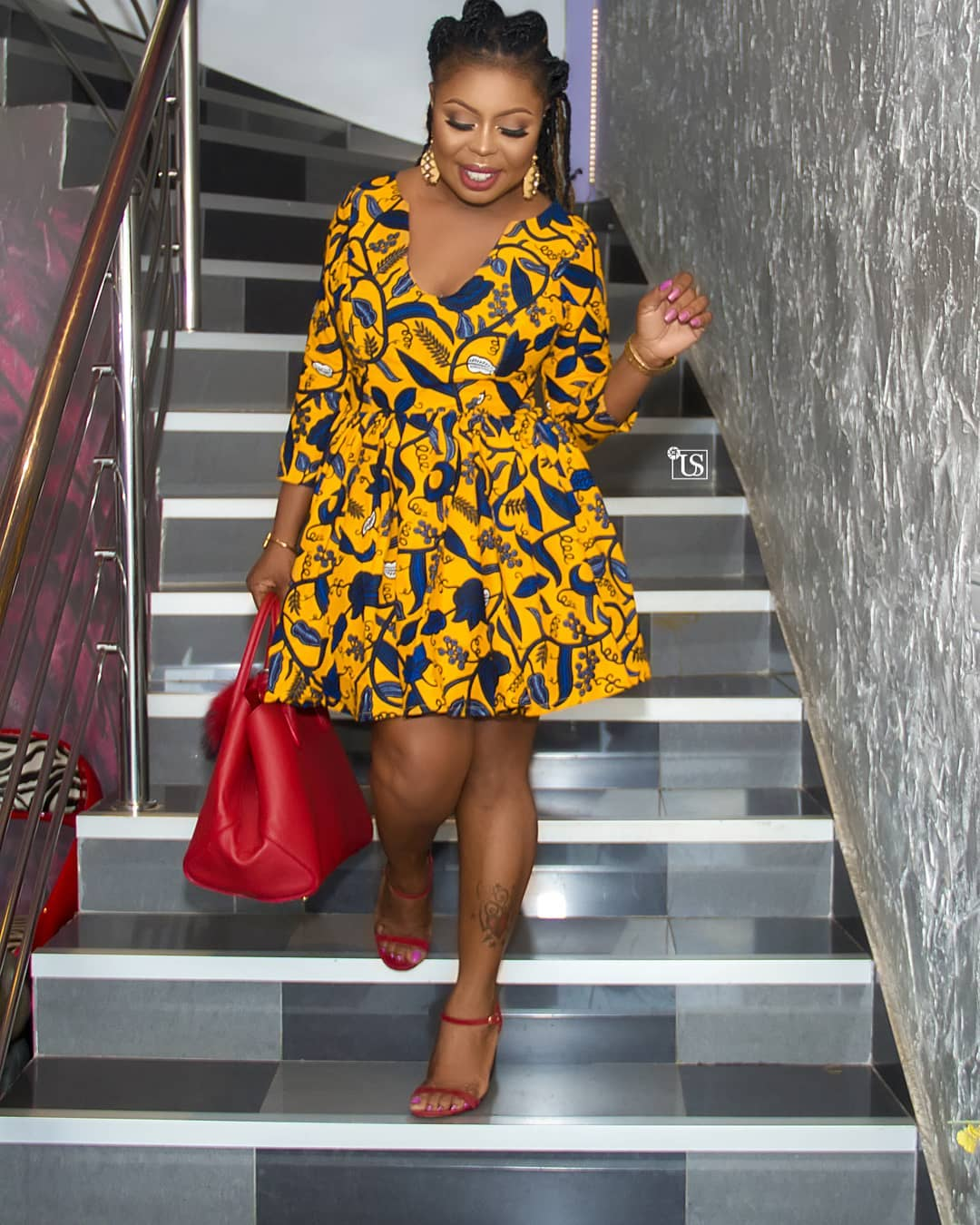 20 Photos Of Latest And Trending Ankara Short Flare Gowns