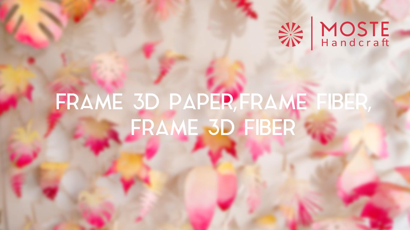 Jual Frame 3D Paper, Frame Fiber, Frame 3D Fiber, Malang Terpercaya 2017