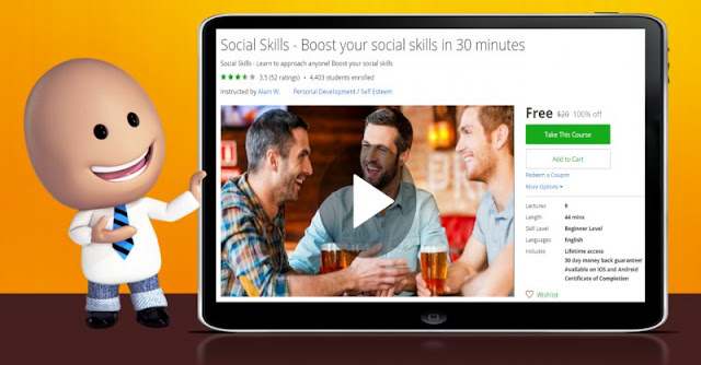 [100% Off] Social Skills - Boost your social skills in 30 minutes|Worth 20$