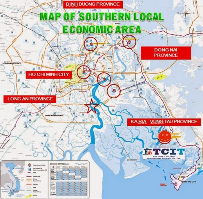 Bản đồ quy hoạch phát triển khu công nghiệp 2015