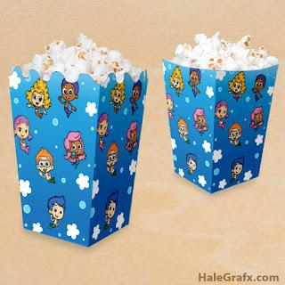 free bubble guppies popcorn boxes