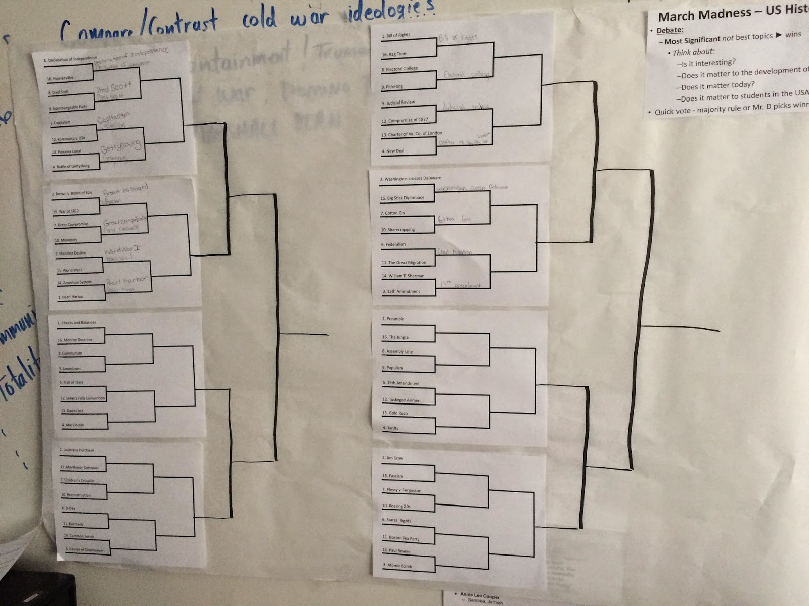 march madness social studies