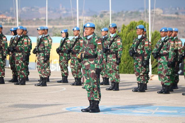 Pasukan Perdamaian Indobatt Upacara Hari Pahlawan di Lebanon