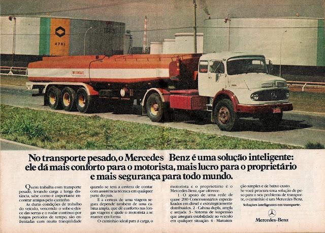 propaganda caminhão Mercedes-Benz LS-1924 A – 1979