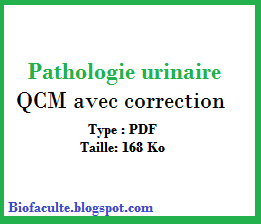 QCM en Pathologie urinaire