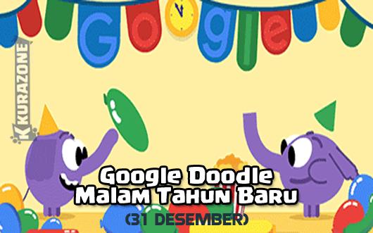 Google Doodle - Malam Tahun Baru (31 Desember 2018)