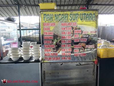 Harga Makanan Di Pak Ngah Sup Utara
