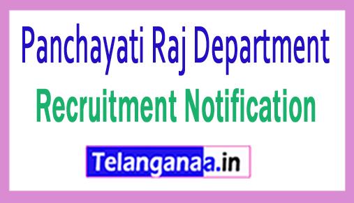 Panchayati Raj Department PRD Recruitment