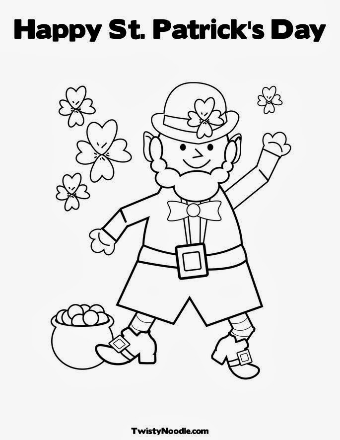 Happy St Patrick's Day coloring sheets