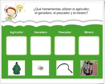 Herramientas de las actividades económicas del Sector Primario Ediciones Bromera 2º de Primaria
