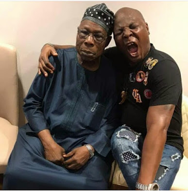 Baba is not smiling! Charly Boy shares pics from his visit to Obasanjo (photos)