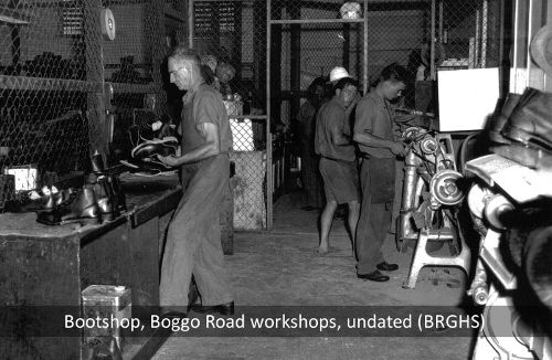 Bootshop, Boggo Road Gaol workshops, Brisbane, undated.