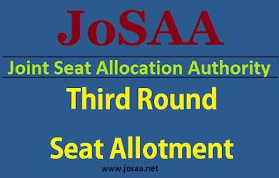 JoSAA 2017 3rd Round