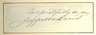 SIgnature of Jefferson Davis