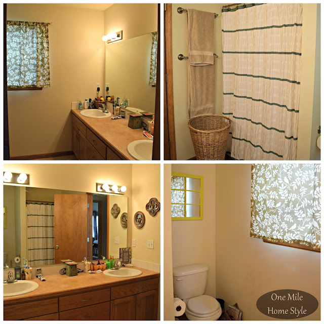 $100 Bathroom Makeover: Before - One Mile Home Style