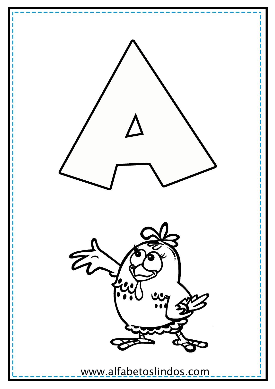 Alfabeto Da Galinha Pintadinha Para Colorir Pintar Imprimir