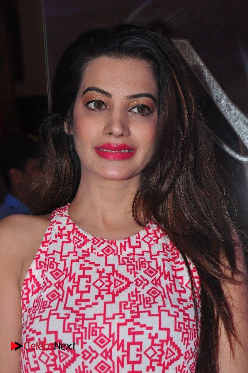 Deeksha Panth Stills in Pink Long Dress at Trendz Exhibition Launch