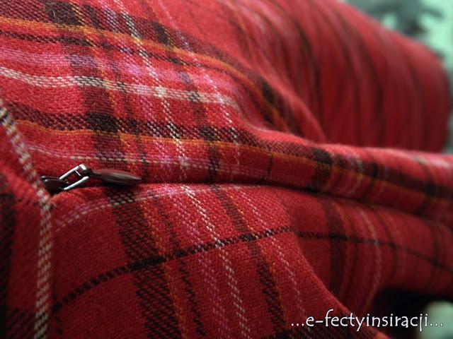 e-fectyinspiracji spódnica z koła w kratę jak uszyć? jak wszyć kryty zamek do spódnicy