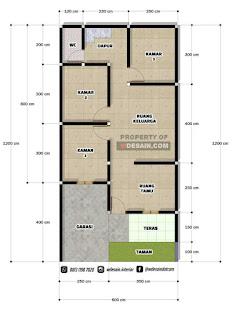 rumah 6x12 3 kamar tidur