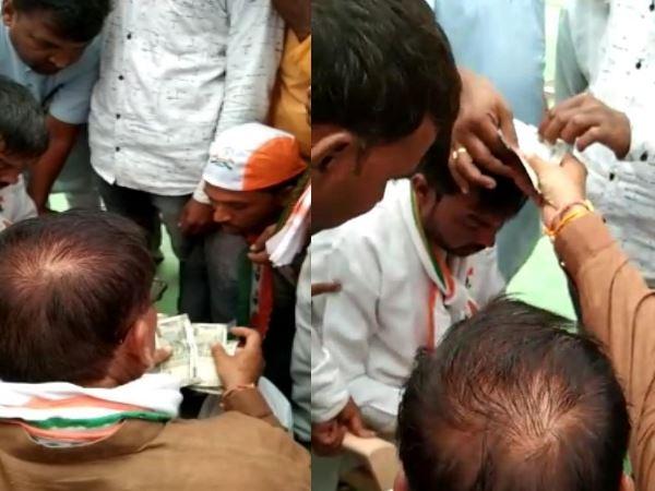 ratlam-news-कांग्रेस नेता हार्दिक पटेल की सभा में रुपए बांटने का वीडियो वायरल