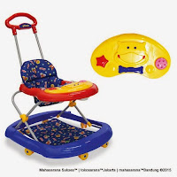 Jok Kain Baby Walker Family FB2211LD Hippo Original