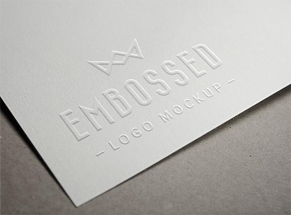 Download Logo Mockup PSD Terbaru Gratis - Embosed Paper Logo Mockup