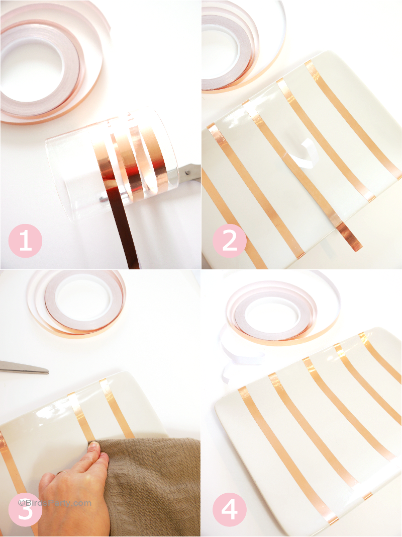 DIY Decors de Table Cuivrés Rapide & Hyper Facile! - BirdsParty.fr