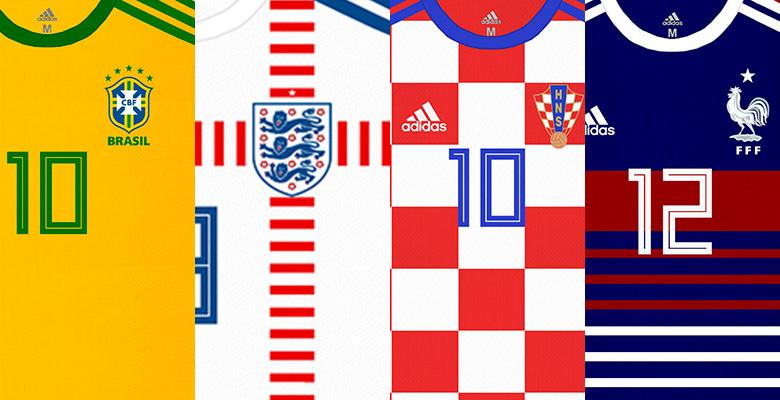 Was wäre, wenn? Adidas Brasilien, Frankreich, England