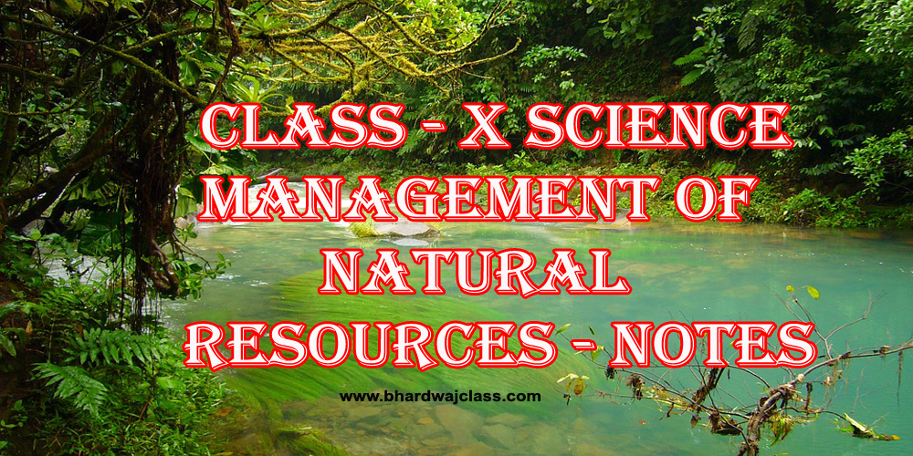 Management of Natural Resources-notes