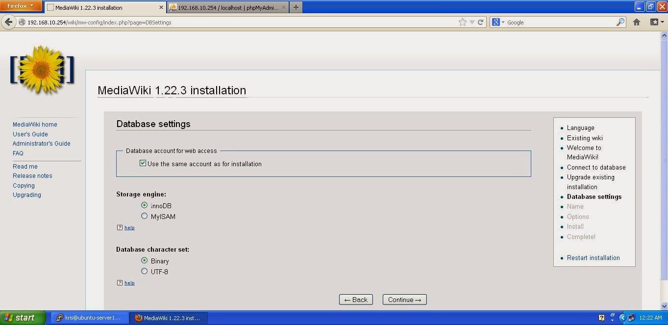 Cara Install Mediawiki di Ubuntu Server 12.04