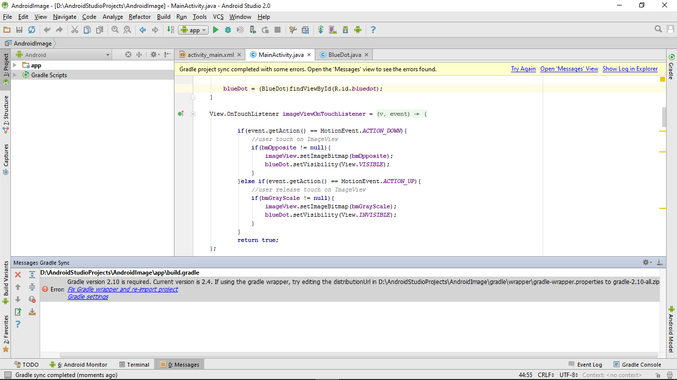 Android-er: Error:Gradle version 2 10 is required  Current version