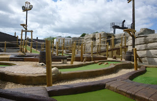 Adventure Golf course at Funder Park in Dawlish Warren