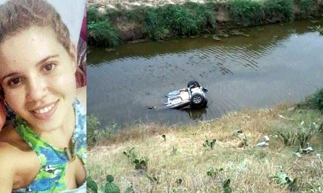 Mulher morre em Porto da Folha após carro capotar e cair em Rio