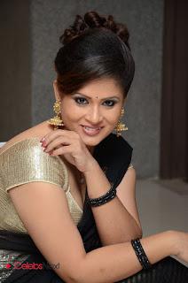 Anchor Shilpha Chakravarthy Stills in Saree at Jeelakarra Bellam Audio Launch  0071