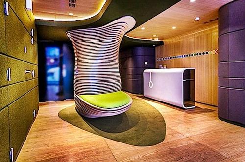 konsep desain interior rumah bergaya futuristik