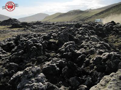 Camino a Landmannalaugar. Coladas de lava