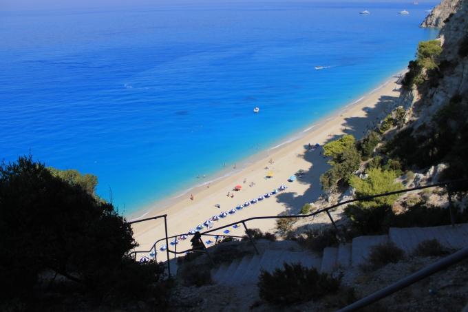 Egremni Beach, Lefkas / Kaunein ranta Kreikassa 2012 / 347 askelmaa